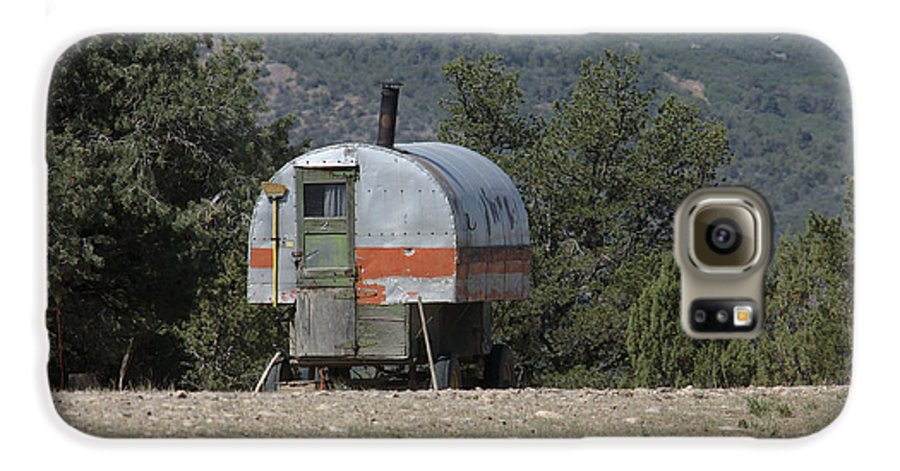 Sheep Galaxy S6 Case featuring the photograph Sheep Herder's Wagon by Jerry McElroy