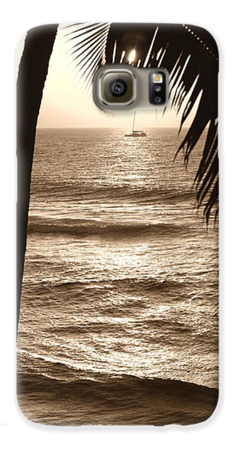 Hawaii Galaxy S6 Case featuring the photograph Ship In Sunset by Marilyn Hunt