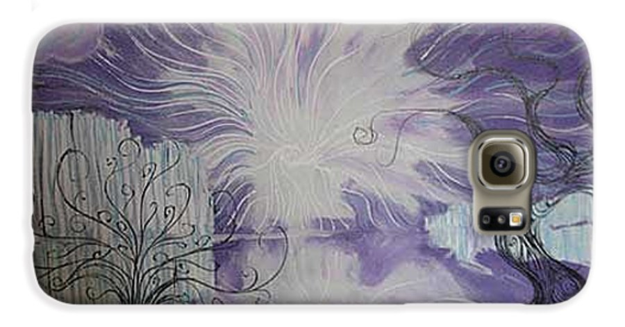 Squiggleism Galaxy S6 Case featuring the painting Shore Dance by Stefan Duncan