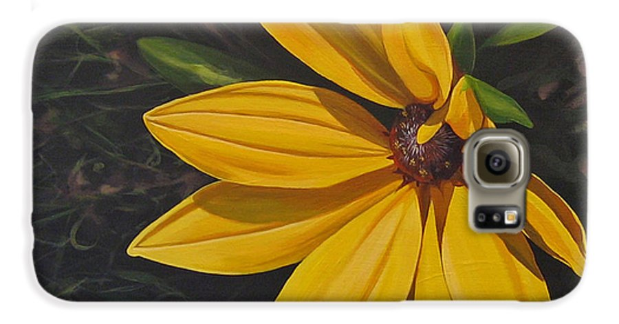 Wildflower Galaxy S6 Case featuring the painting Sign Of Summer by Hunter Jay