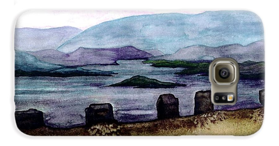 Original Painting Galaxy S6 Case featuring the painting Silent Sentinels by Patricia Griffin Brett
