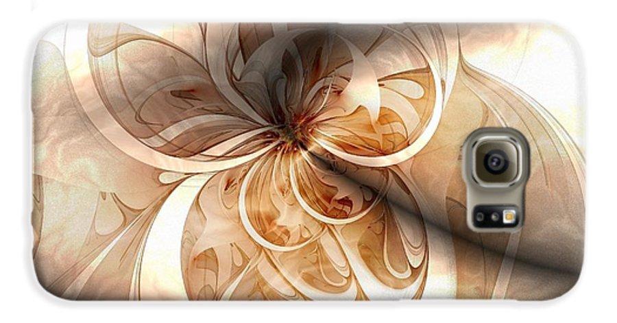 Digital Art Galaxy S6 Case featuring the digital art Silk by Amanda Moore