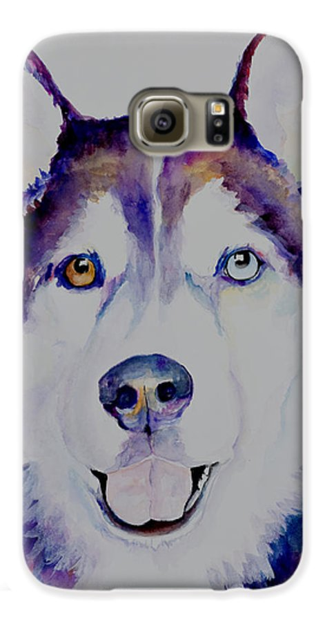 Siberian Husky Galaxy S6 Case featuring the painting Simba by Pat Saunders-White