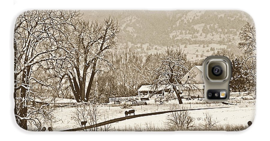 Landscape Galaxy S6 Case featuring the photograph Simpler Times by Marilyn Hunt