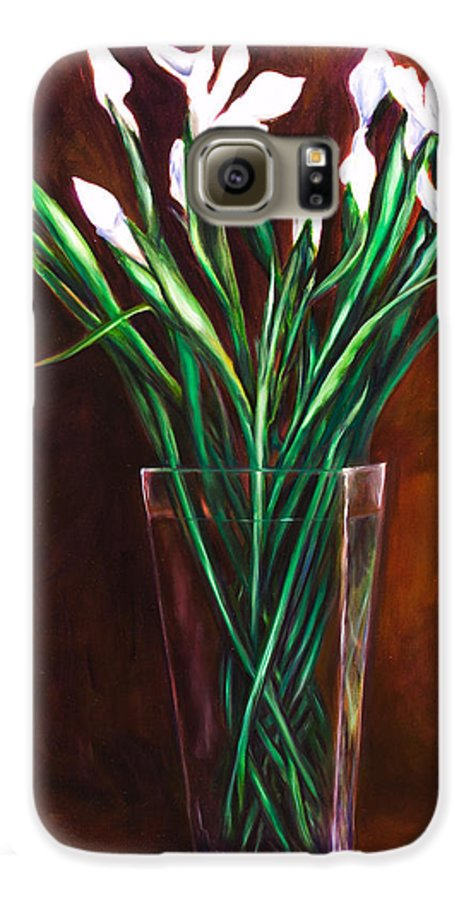 Iris Galaxy S6 Case featuring the painting Simply Iris by Shannon Grissom