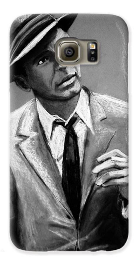 Frank Sinatra Galaxy S6 Case featuring the drawing Sinatra by Laura Rispoli