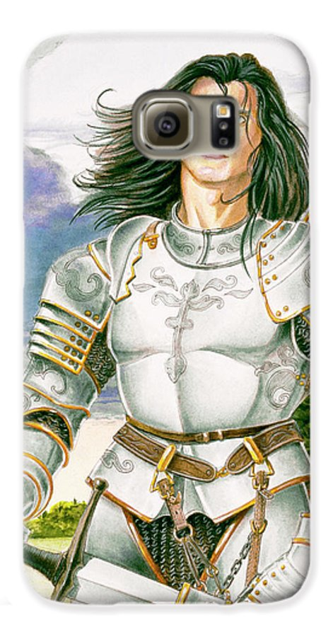 Swords Galaxy S6 Case featuring the painting Sir Lancelot by Melissa A Benson