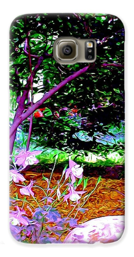 Fine Art Galaxy S6 Case featuring the painting Sitting In The Shade by Patricia Griffin Brett