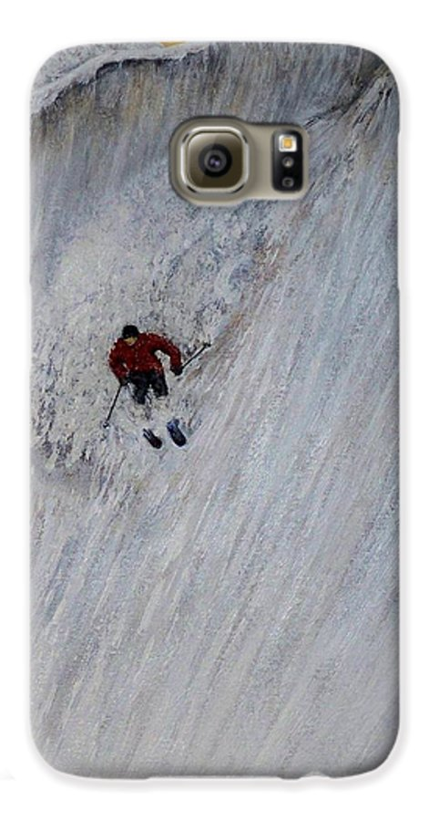 Landscape Galaxy S6 Case featuring the painting Skitilthend by Michael Cuozzo