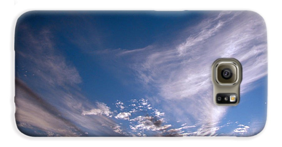 Skies Galaxy S6 Case featuring the photograph Sky by Amanda Barcon