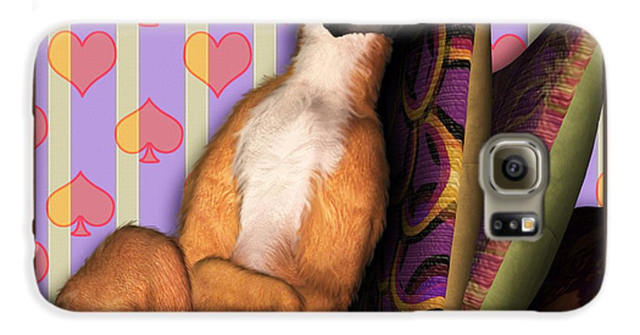 Dog Galaxy S6 Case featuring the digital art Sleeping II by Nik Helbig