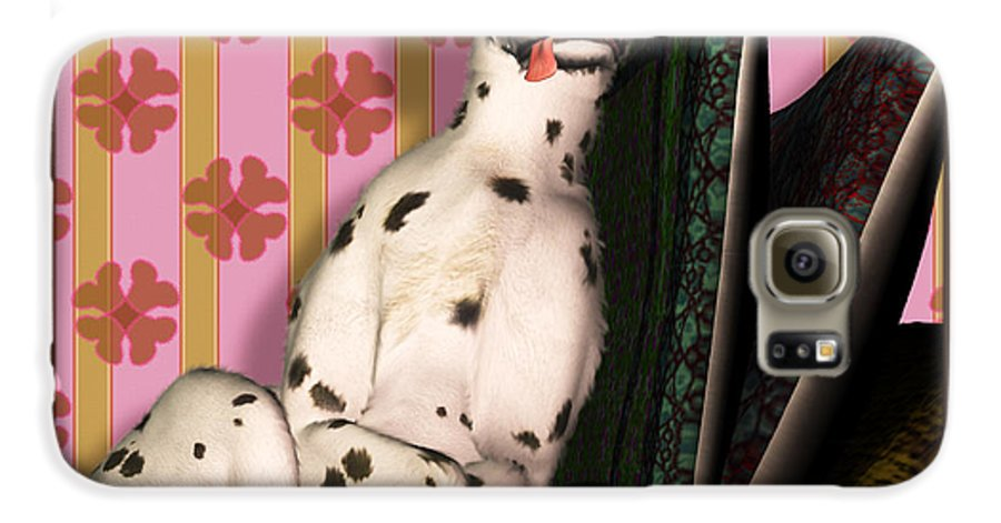 Dalmatian Galaxy S6 Case featuring the digital art Sleeping IIi by Nik Helbig