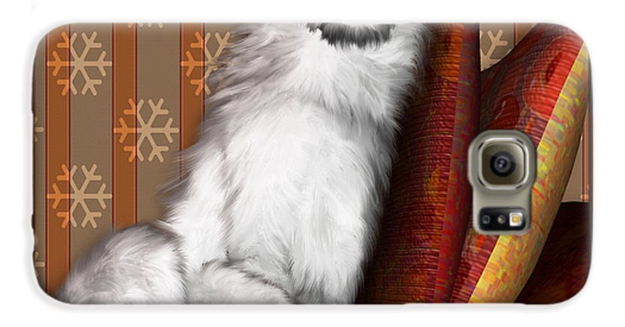 Dog Galaxy S6 Case featuring the digital art Sleeping Iv by Nik Helbig