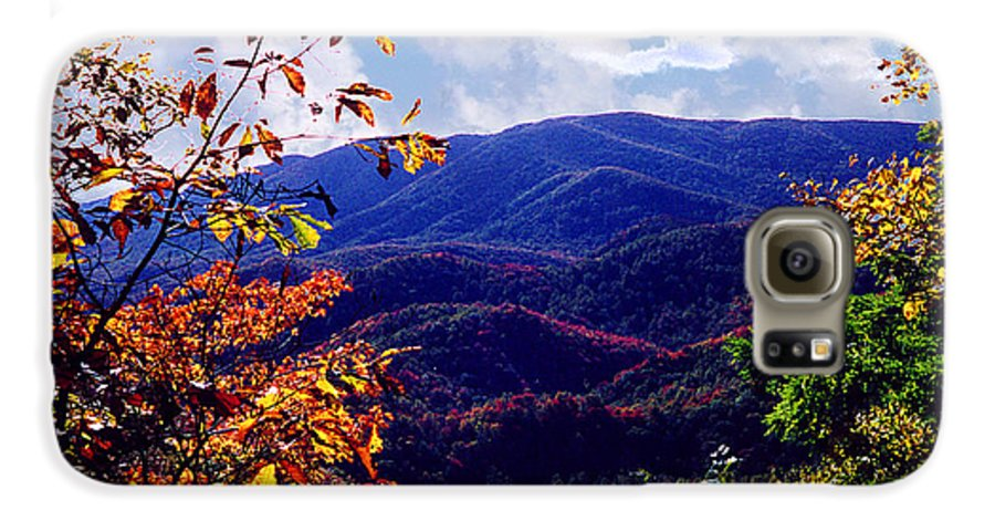 Mountain Galaxy S6 Case featuring the photograph Smoky Mountain Autumn View by Nancy Mueller