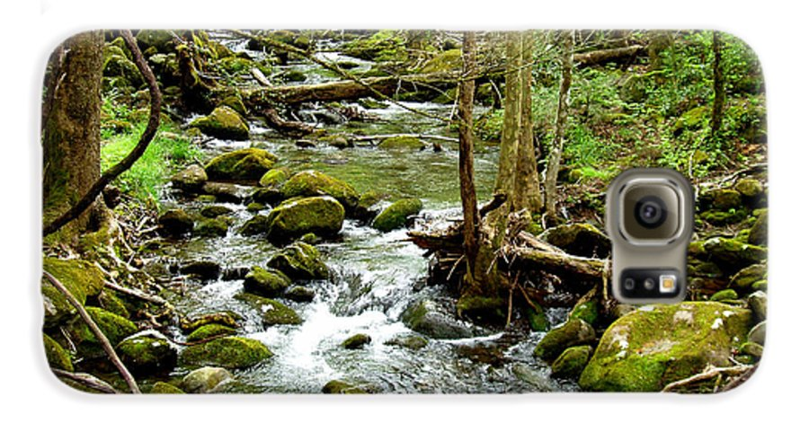 Smoky Mountains Galaxy S6 Case featuring the photograph Smoky Mountain Stream 1 by Nancy Mueller