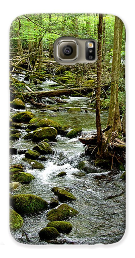 River Galaxy S6 Case featuring the photograph Smoky Mountain Stream 2 by Nancy Mueller