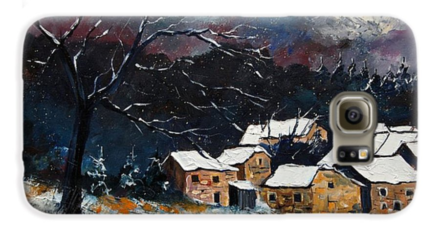 Snow Galaxy S6 Case featuring the painting Snow 57 by Pol Ledent