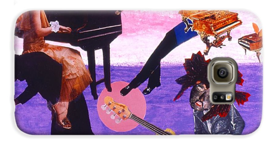 Grand Piano Galaxy S6 Case featuring the drawing Soap Scene #21 Beggar Belief by Minaz Jantz