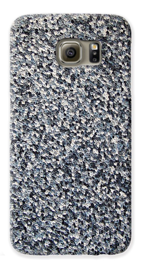 Abstract Galaxy S6 Case featuring the painting Soft Grey Scale by Dean Triolo