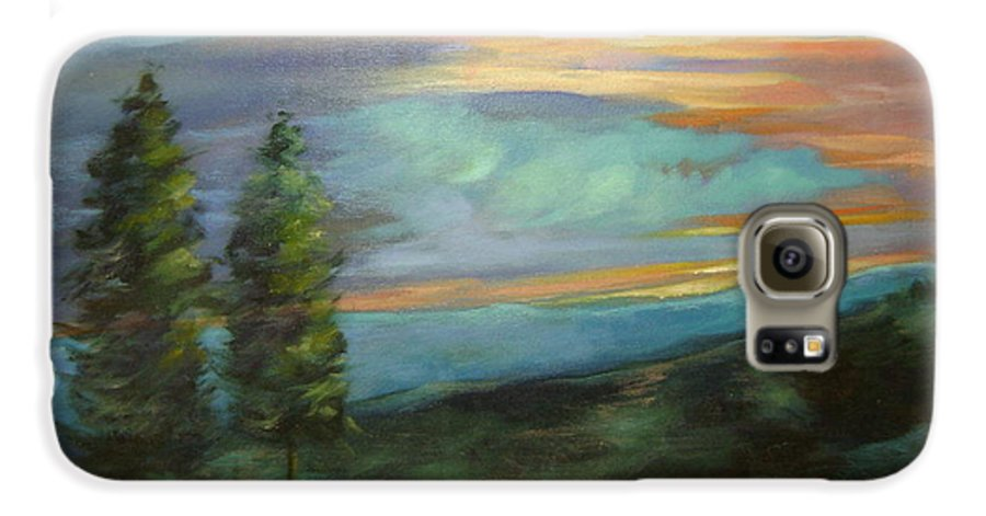 Landscape Galaxy S6 Case featuring the painting Soledad by Ginger Concepcion
