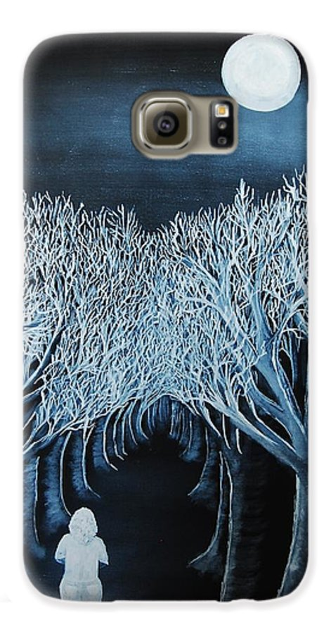 Landscape Galaxy S6 Case featuring the painting Solidad by Lauren Luna