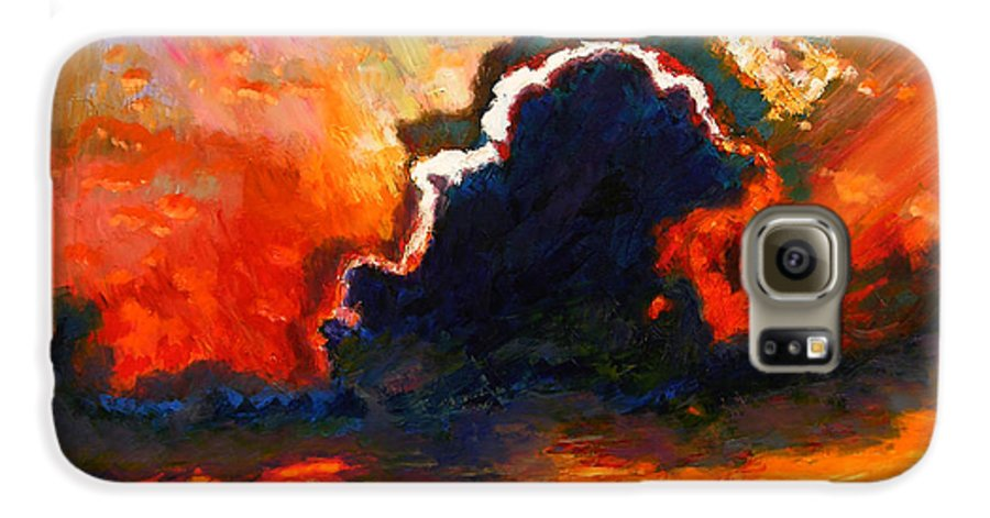 Landscape Galaxy S6 Case featuring the painting Some Glad Morning by John Lautermilch