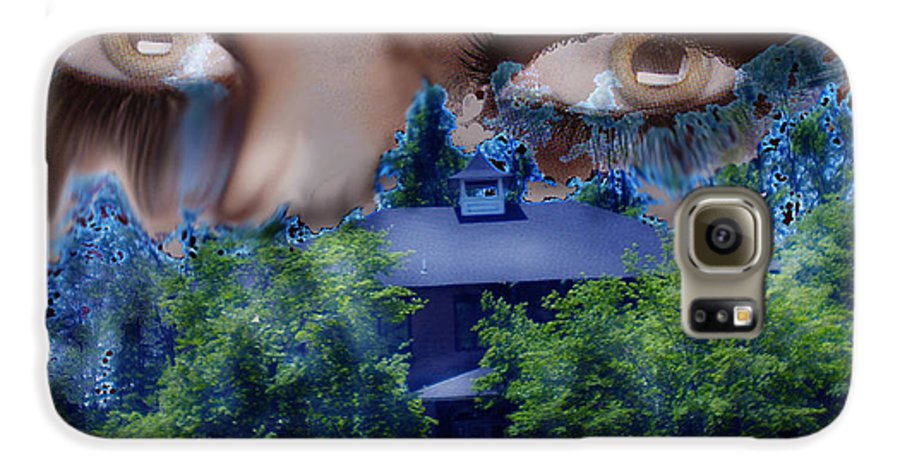 Strange House Galaxy S6 Case featuring the digital art Something To Watch Over Me by Seth Weaver