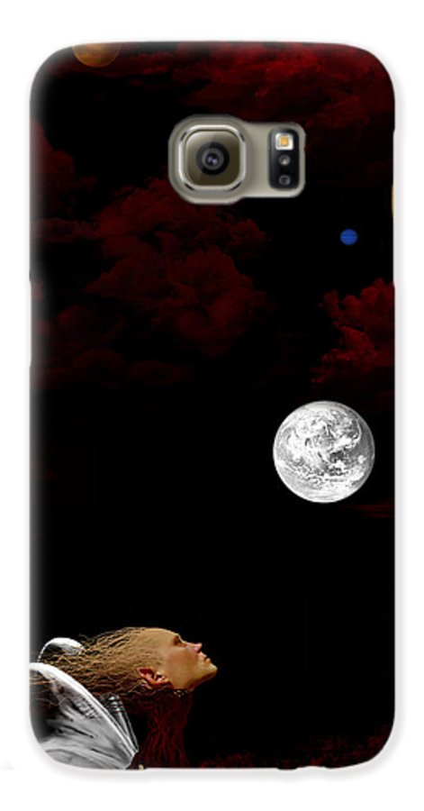 Moon Galaxy S6 Case featuring the digital art Sometimes I Wonder by Ruben Flanagan