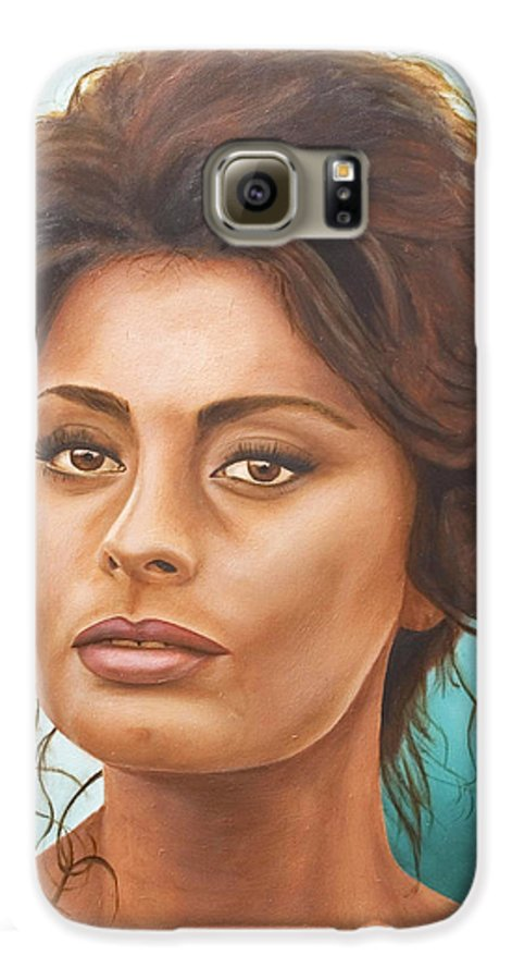 Moviestar Galaxy S6 Case featuring the painting Sophia Loren by Rob De Vries