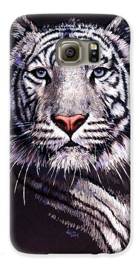 Tiger Galaxy S6 Case featuring the drawing Sorcerer by Barbara Keith