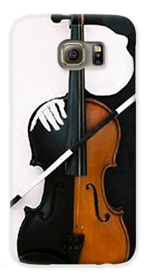 Violin Galaxy S6 Case featuring the sculpture Soul Of Music by Steve Karol