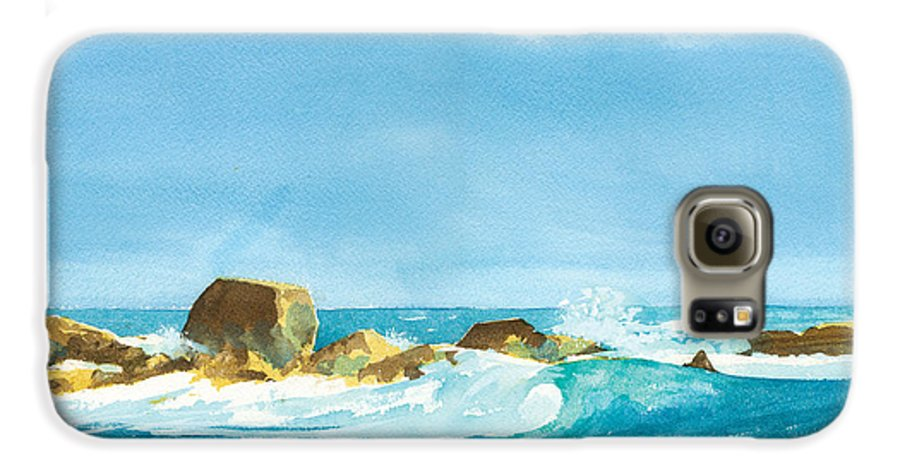 Waves Galaxy S6 Case featuring the painting Sound Of Surf by Ray Cole