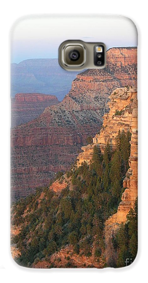 Sunset Galaxy S6 Case featuring the photograph South Rim Sunset by Louise Magno