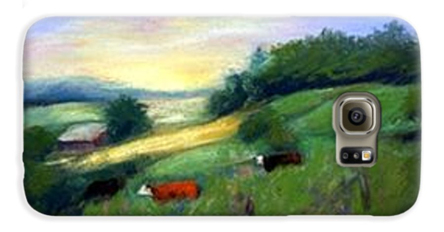 Landscape Galaxy S6 Case featuring the painting Southern Ohio Farm by Gail Kirtz