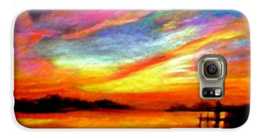 Sunset Galaxy S6 Case featuring the painting Southern Sunset by Gail Kirtz