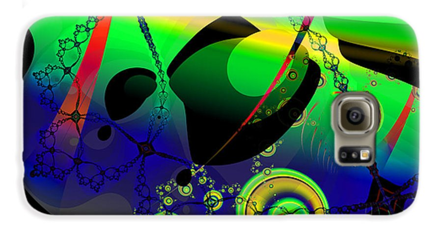 Fractal Galaxy S6 Case featuring the digital art Space Carnival by Frederic Durville