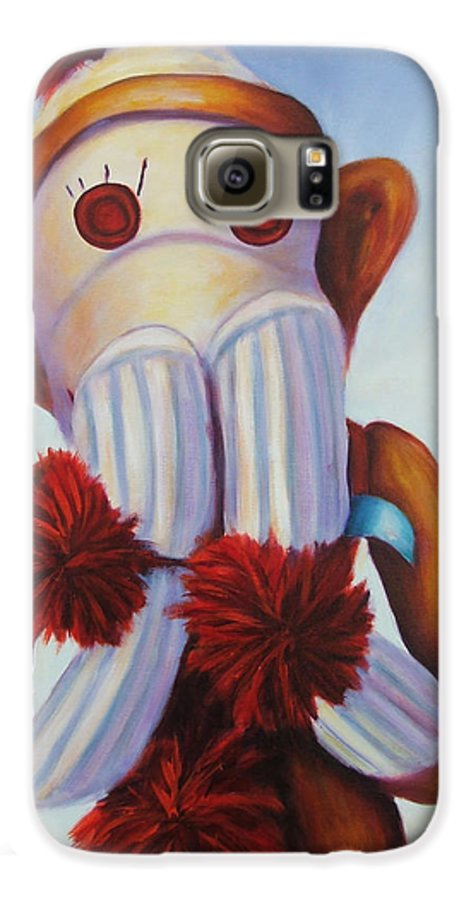 Children Galaxy S6 Case featuring the painting Speak No Bad Stuff by Shannon Grissom
