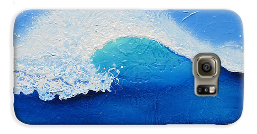 Contemporary Galaxy S6 Case featuring the painting Spiral Wave by Jaison Cianelli