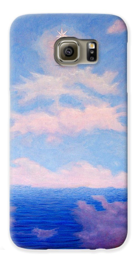 Buddha Galaxy S6 Case featuring the painting Spirit Of The Lake by Brian Commerford