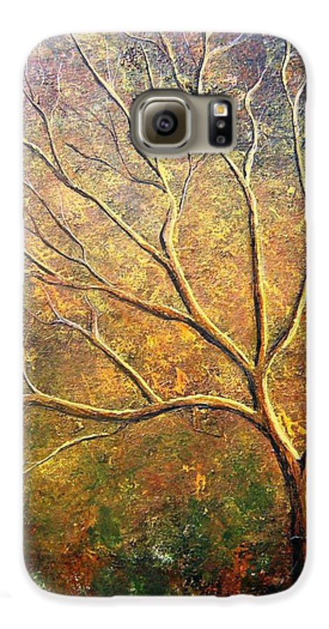 Galaxy S6 Case featuring the painting Spirit Tree 5 by Tami Booher