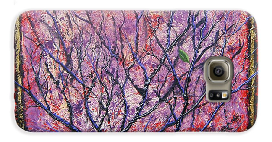 Nature Galaxy S6 Case featuring the painting Spirit Tree 6 by Tami Booher