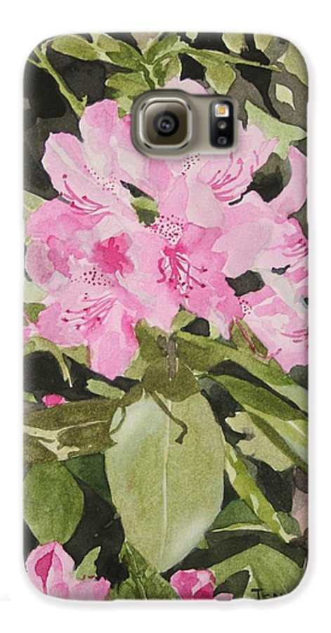Flowers Galaxy S6 Case featuring the painting Spring At The Cabin by Jean Blackmer