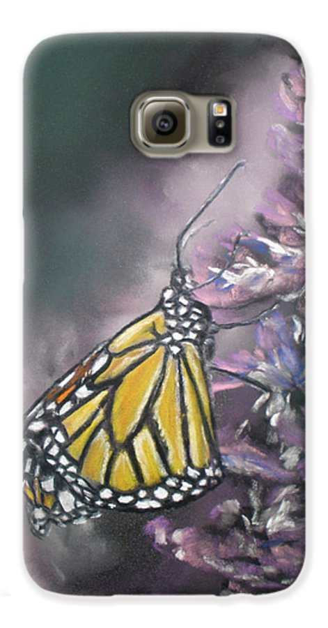 Spring Galaxy S6 Case featuring the painting Spring by Cathy Weaver