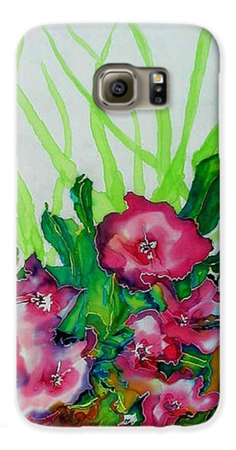 Flora Galaxy S6 Case featuring the painting Spring Celebration 1 by Ferril Nawir