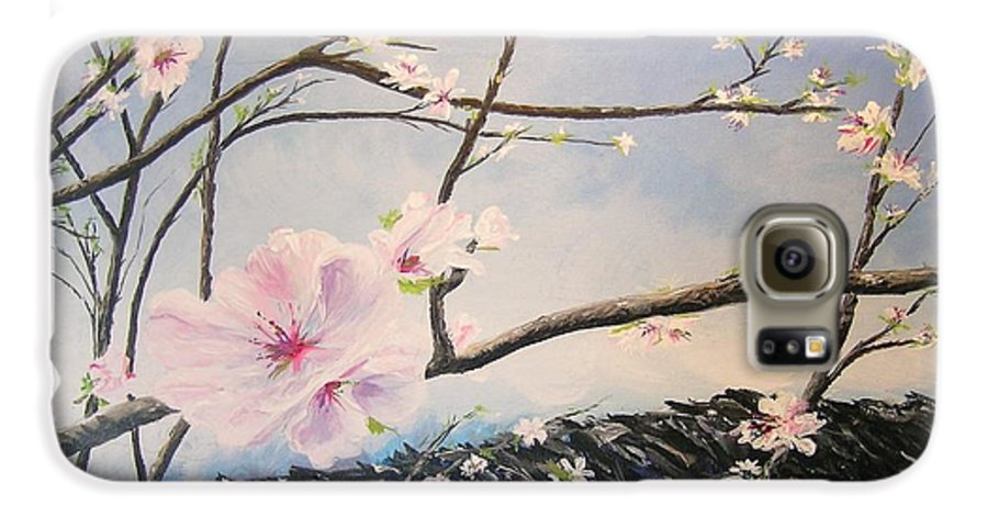 Flower Galaxy S6 Case featuring the painting Spring Is In The Air by Lizzy Forrester