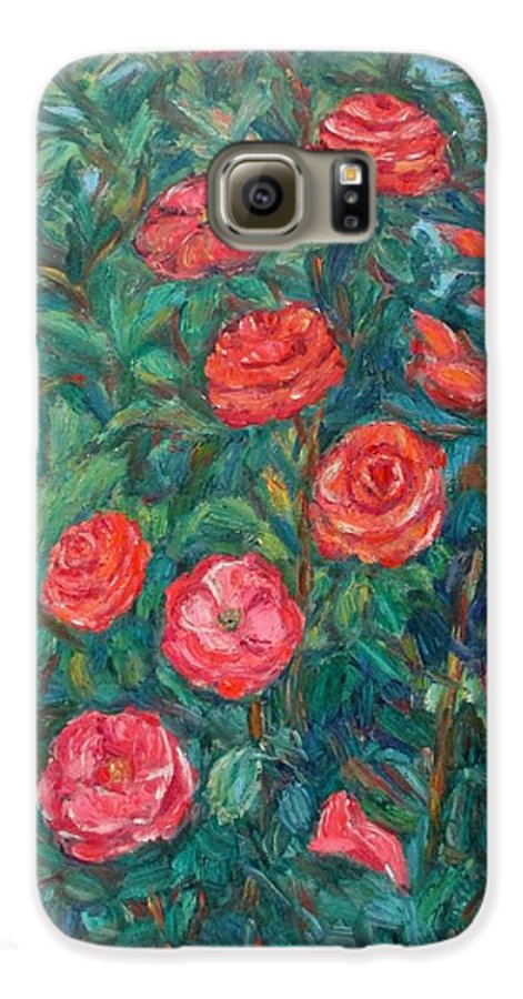 Rose Galaxy S6 Case featuring the painting Spring Roses by Kendall Kessler