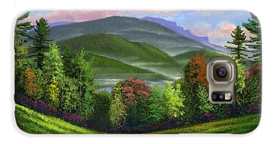 Landscape Galaxy S6 Case featuring the painting Spring Time by Frank Wilson