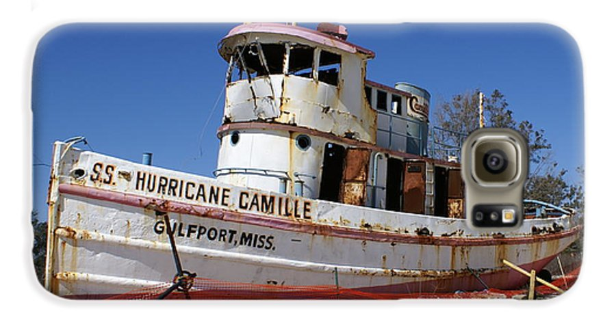 Ship Galaxy S6 Case featuring the photograph S.s. Hurricane Camille by Debbie May