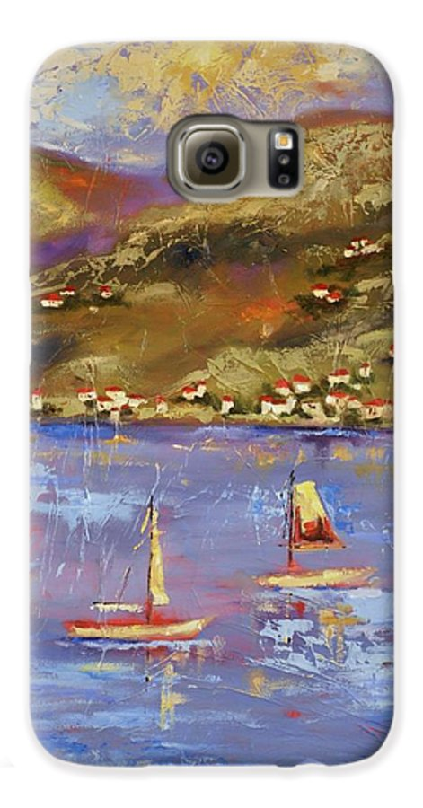 St. John Galaxy S6 Case featuring the painting St. John Usvi by Ginger Concepcion