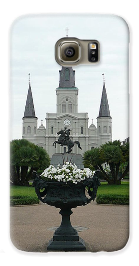 New Orleans Galaxy S6 Case featuring the photograph St. Louis Cathedral New Orleans by Kathy Schumann
